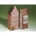 Maquette en Carton : Deux maisons de Lunebourg