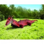Puzzle   Maquette en Carton : Dragon rouge