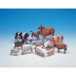 Puzzle   Maquette en carton : Les animaux de la ferme