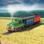 Puzzle   Maquette en carton : Locomotive à vapeur