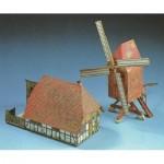 Maquette en Carton : Moulin à Vent et bâtiment de Ferme