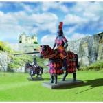 Puzzle   Maquette en Carton : Tournois de Chevaliers