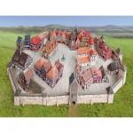 Puzzle   Maquette en Carton : Ville Médiévale