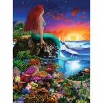 Puzzle  Master-Pieces-31723 Pièces XXL - Book Box - Little Mermaid