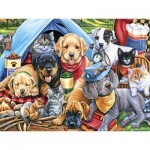 Puzzle  Master-Pieces-31724 Pièces XXL - Camping Buddies