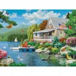 Puzzle  Master-Pieces-31806 Pièces XXL - Lakeside Memories
