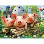 Puzzle  Master-Pieces-31817 Pièces XXL - Three Lil' Pigs