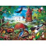 Puzzle  Master-Pieces-31916 Pièces XXL - Farmland Frolic
