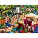 Puzzle  Master-Pieces-31997 Pièces XXL - Campsite Trouble