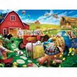 Puzzle  Master-Pieces-32106 Pièces XXL - Quilt Country