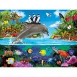 Puzzle  Master-Pieces-32112 Pièces XXL - Dolphin Ride