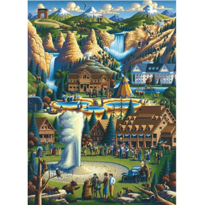 Master-Pieces-71171 Puzzle en Valisette - Yellowstone
