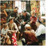Puzzle  Master-Pieces-71366 Norman Rockwell: Retour à la maison du Marin's