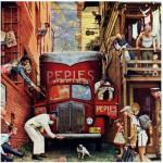 Puzzle  Master-Pieces-71367 Norman Rockwell: La Rue Bloquée