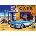 Puzzle  Master-Pieces-71517 Route 66 Café