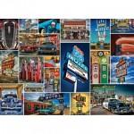Master-Pieces-71772 Puzzle en Valisette - Route 66