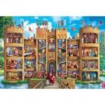 Puzzle  Master-Pieces-71964 Pièces XXL - Medieval Castle