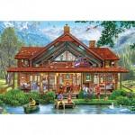 Puzzle  Master-Pieces-71965 Pièces XXL - Camping Lodge