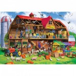Puzzle  Master-Pieces-71966 Family Barn