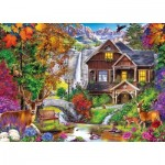Puzzle  Master-Pieces-71985 Hidden Falls Retreat