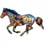 Puzzle  Master-Pieces-72052 Wild Horse