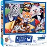 Puzzle  Master-Pieces-72181 Cozy Cats