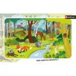 Nathan-86011 Puzzle Cadre - Animaux de la Forêt