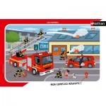 Nathan-86138 Puzzle Cadre - Les Pompiers