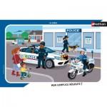 Nathan-86139 Puzzle Cadre - La Police