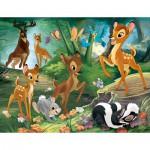 Puzzle  Nathan-86281 Bambi : Promenade en Famille
