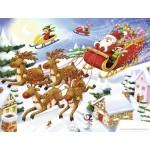 Puzzle  Nathan-86364 La Tournée du Père Noël