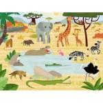 Puzzle  Nathan-86383 Animaux de la Savanne