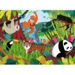 Puzzle  Nathan-86469 Pièces XXL - Les Animaux de la Jungle