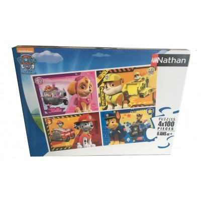 Nathan-86761 4 Puzzles - Pat Patrouille