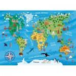 Puzzle  Nathan-86775 Carte du Monde