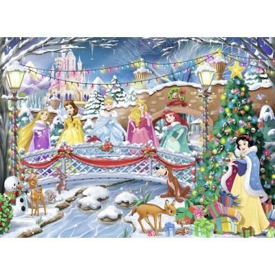 Puzzle Nathan-87151 Noël avec les Princesses Disney