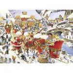 Puzzle  Nathan-87152 Arrivée du Père Noël