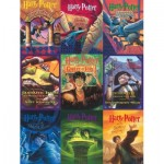 Puzzle  New-York-Puzzle-HP1917 Pièces XXL - Harry Potter - Book Cover Collage