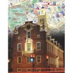 Puzzle  New-York-Puzzle-NG1866 Boston City Map Mini