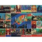 Puzzle  New-York-Puzzle-PT1961 Pièces XXL - New York Collage
