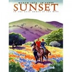 Puzzle  New-York-Puzzle-SU2006 Pièces XXL - Sunset - Horses in The Hills