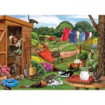 Puzzle  Otter-House-Puzzle-73563 Garden Cats