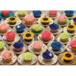 Puzzle  Cobble-Hill-51682 Cupcakes et Soucoupes