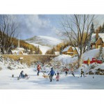 Puzzle  Cobble-Hill-51687 Hockey sur le Lac Gelé