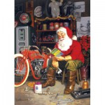 Puzzle  Cobble-Hill-51698 Tom Newsom : La Flying Merkel du Père Noël