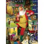 Puzzle  Cobble-Hill-51766-80077 Tom Newsom : L'atelier du Père Noël