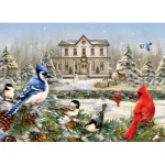 Puzzle  Cobble-Hill-51823 Greg Giordano - Country House Birds