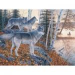 Puzzle  Cobble-Hill-54338 Pièces XXL - Jim Kasper : Les Voyageurs Silencieux