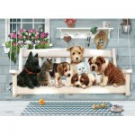 Puzzle  Cobble-Hill-54602 Pièces XXL - Family - Porch Pals
