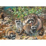 Puzzle  Cobble-Hill-54607 Pièces XXL - Raccoon Family